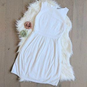 Zara white eyelet spring and summer dress